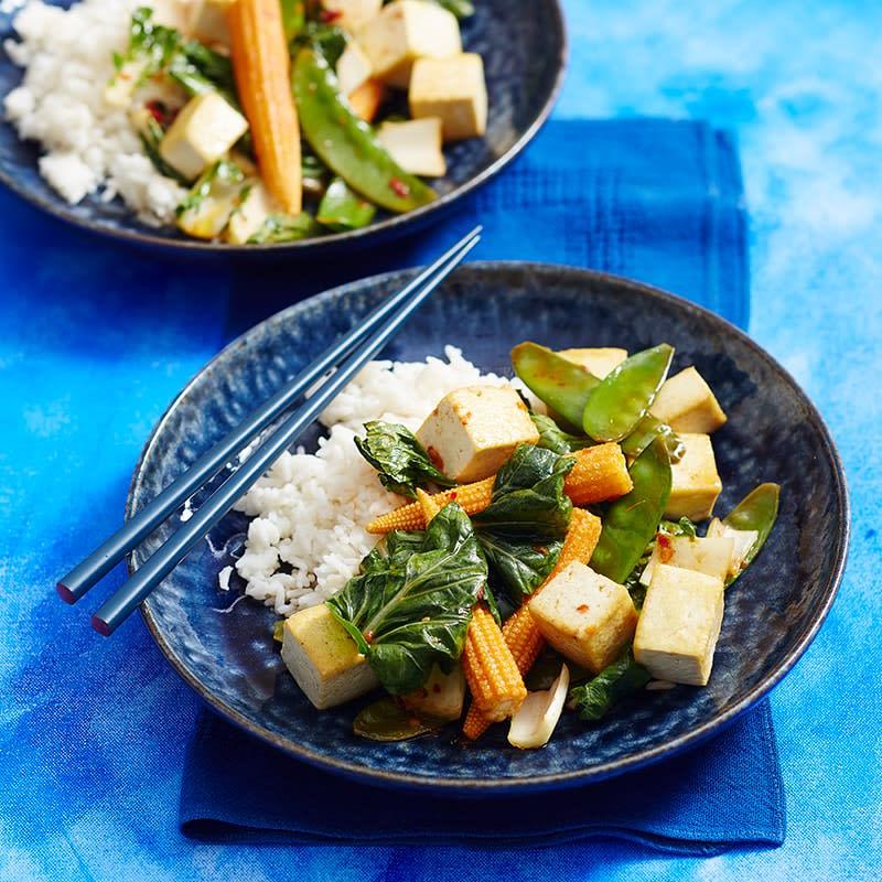 Photo of Tofu, vegie and chilli jam stir-fry by WW