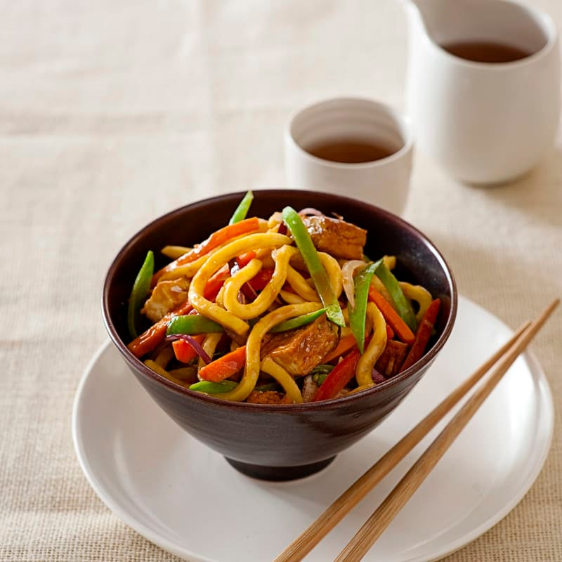 Photo of Spicy tofu and snowpea stir-fry by WW