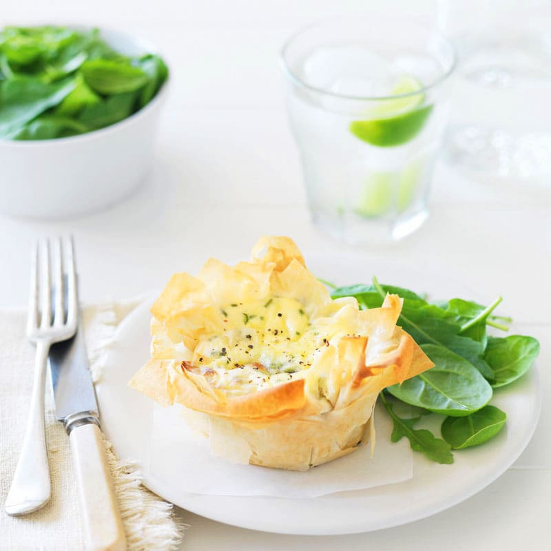 Photo of Zucchini and baby spinach quiches by WW