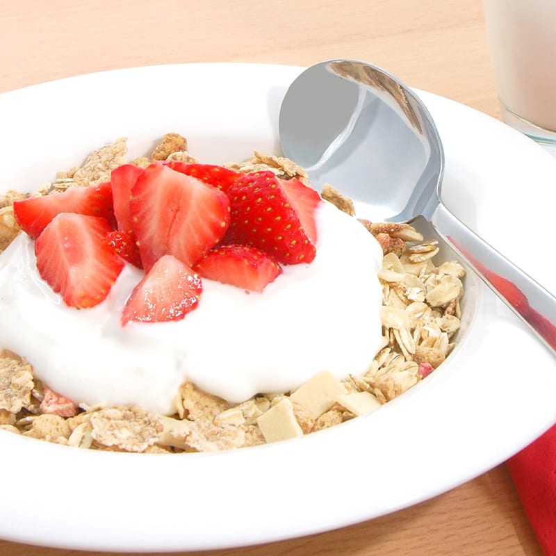 Photo of Bran cereal with strawberries and yoghurt by WW