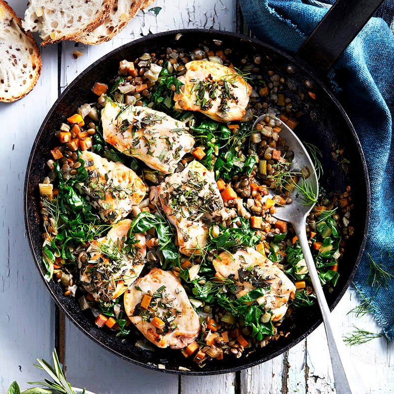 Photo of Braised chicken with lentils and fennel by WW