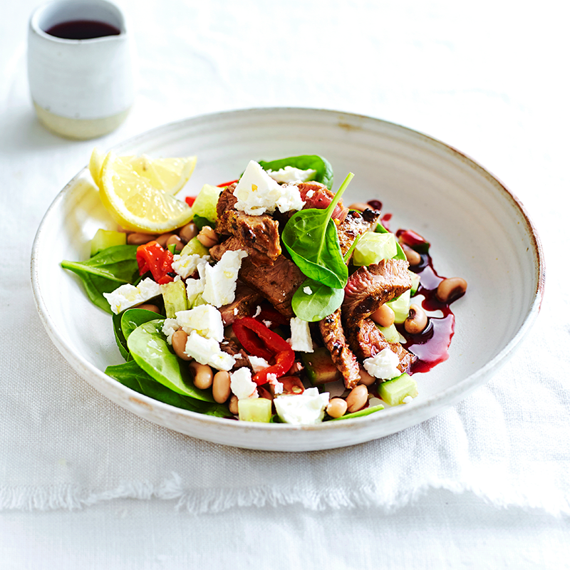 Photo of Warm Persian beef, black-eyed bean and pomegranate salad by WW