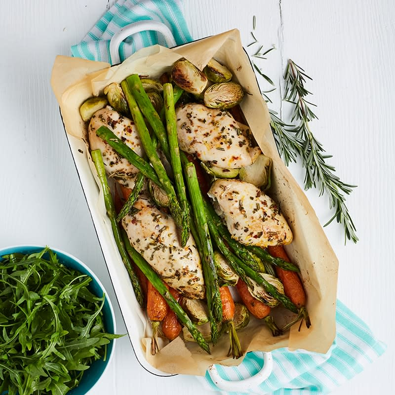 Photo of Orange, rosemary and chilli chicken tray bake by WW