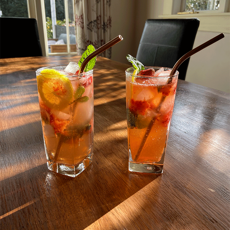 Photo of Ingrid's strawberry and lime mojito by WW