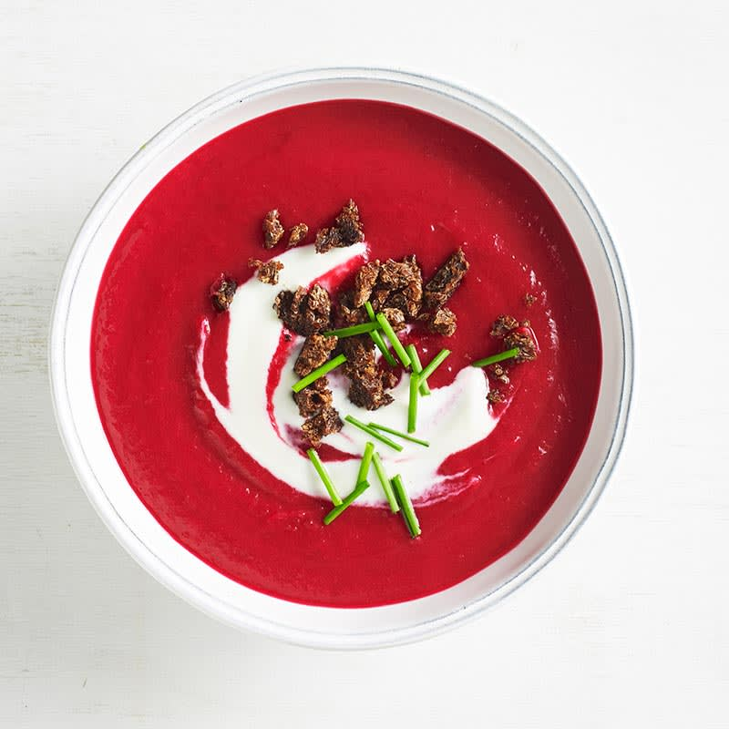 Photo of Beetroot and potato soup with pumpernickel crumb by WW
