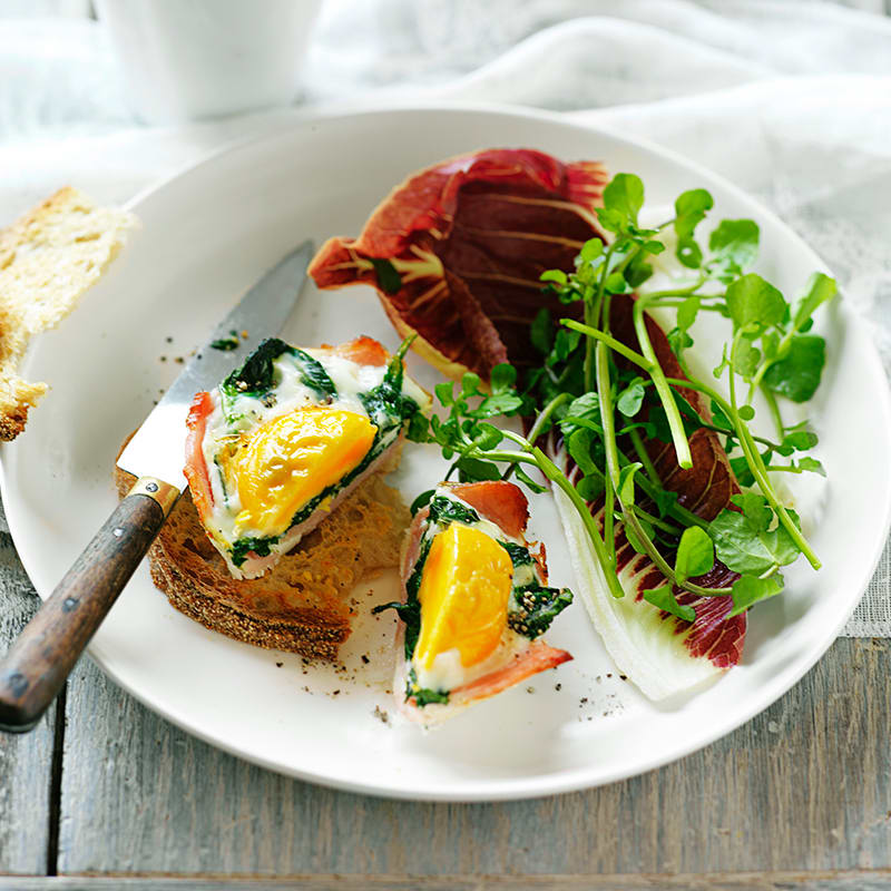 Photo of Bacon, egg and spinach bakes by WW