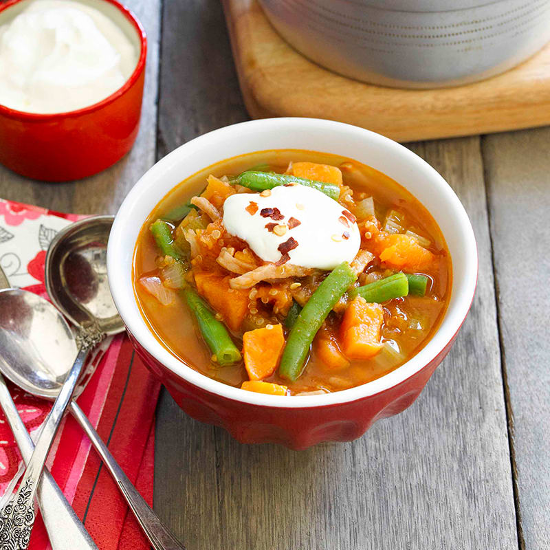 Photo of Spicy tomato, quinoa and vegetable soup by WW