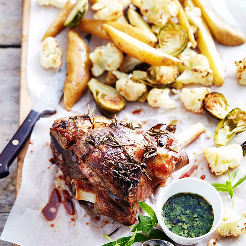 Photo of Slow-baked lamb with fresh mint sauce by WW
