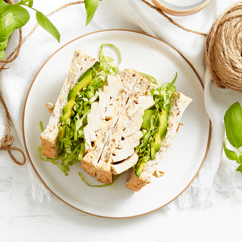 Photo of Chicken with greens sandwich by WW