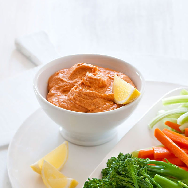 Photo of Roasted capsicum and chickpea dip by WW