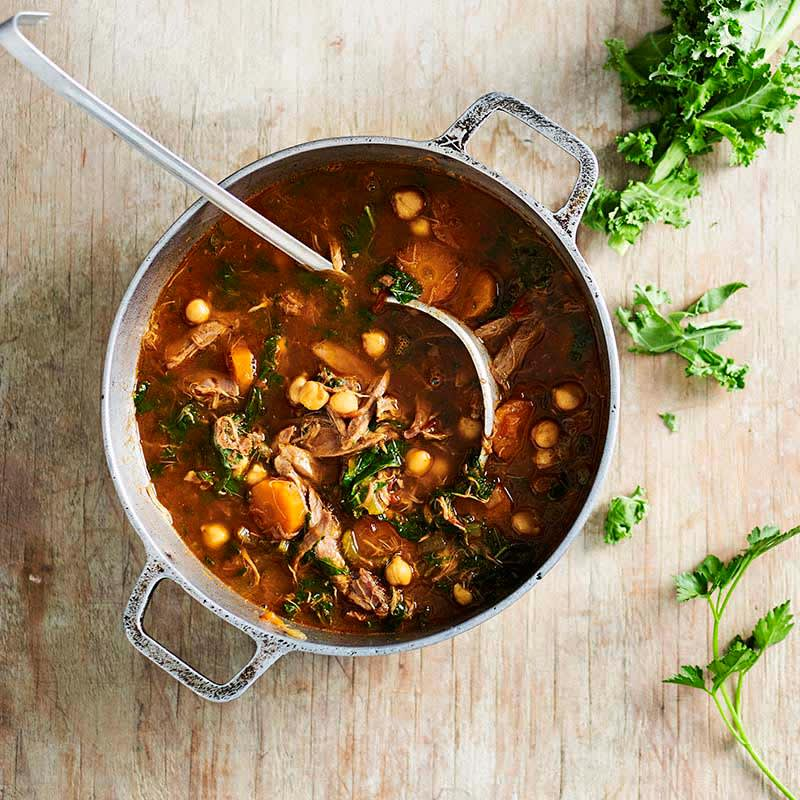Photo of Slow-cooker Moroccan lamb and chickpea soup by WW