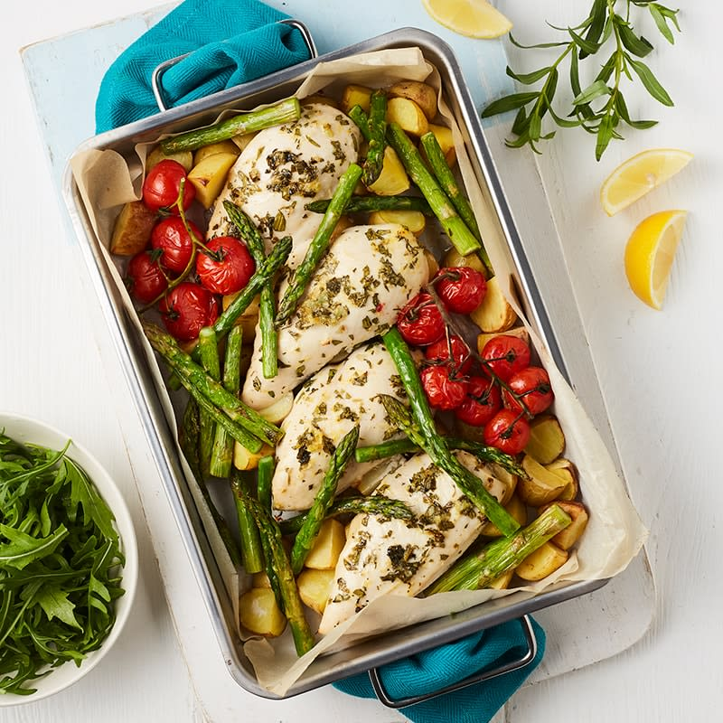 Photo of Lemon and tarragon chicken tray bake by WW