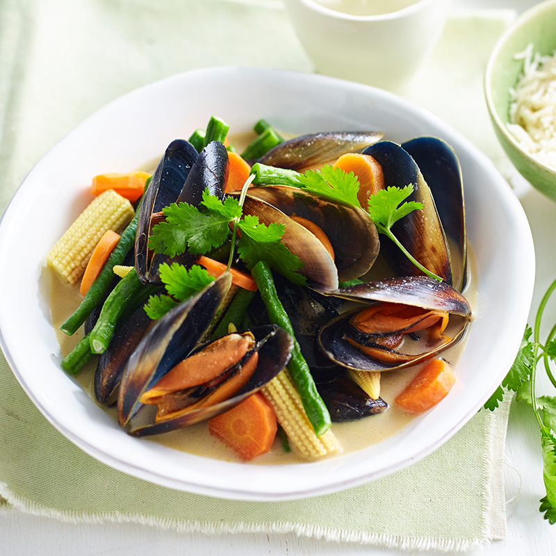 Photo of Thai green mussels by WW