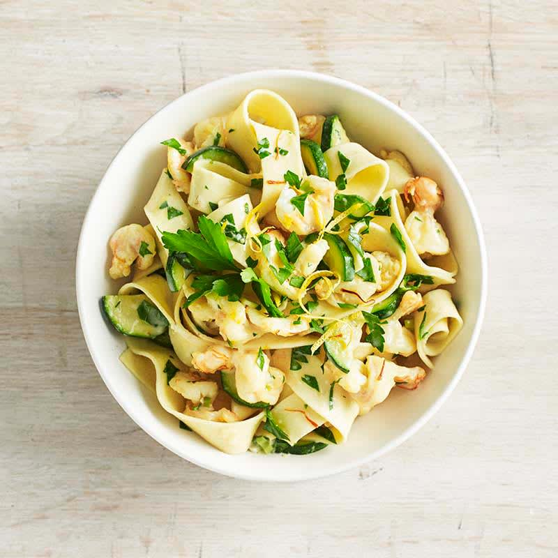 Photo of Saffron and prawn pappardelle by WW