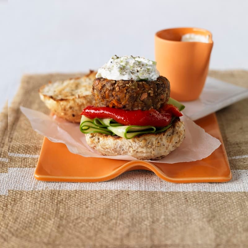 Photo of Lentil and cashew burger by WW
