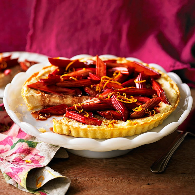Photo of Ricotta tart with balsamic roasted rhubarb by WW