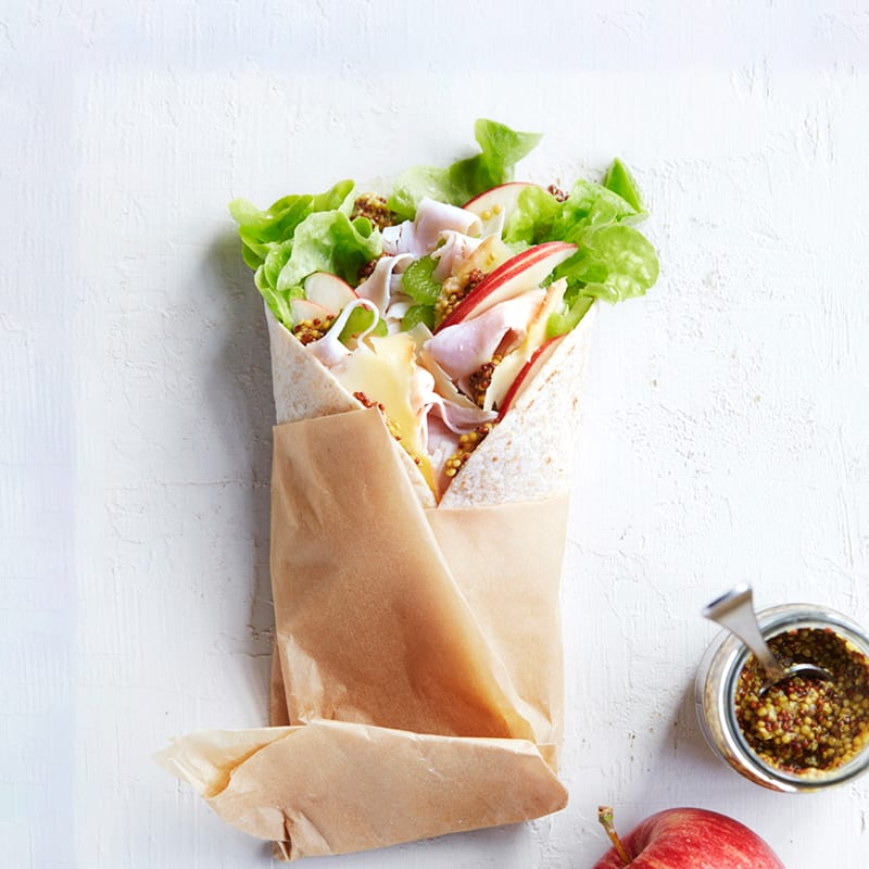 Photo of Turkey, apple and smoked cheddar wrap by WW