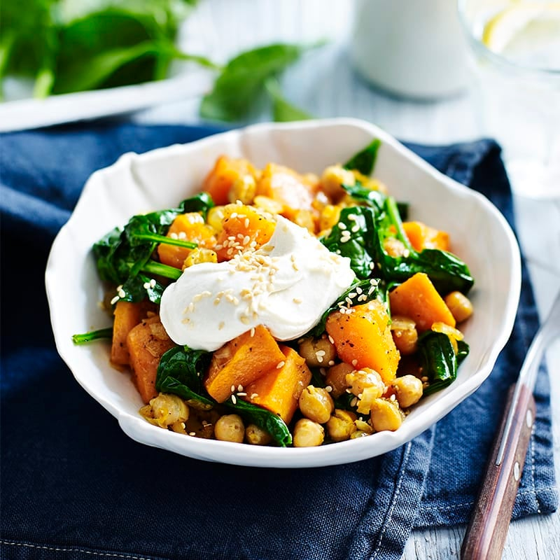 Photo of Sweet potato, spinach and chickpea Buddha bowl by WW