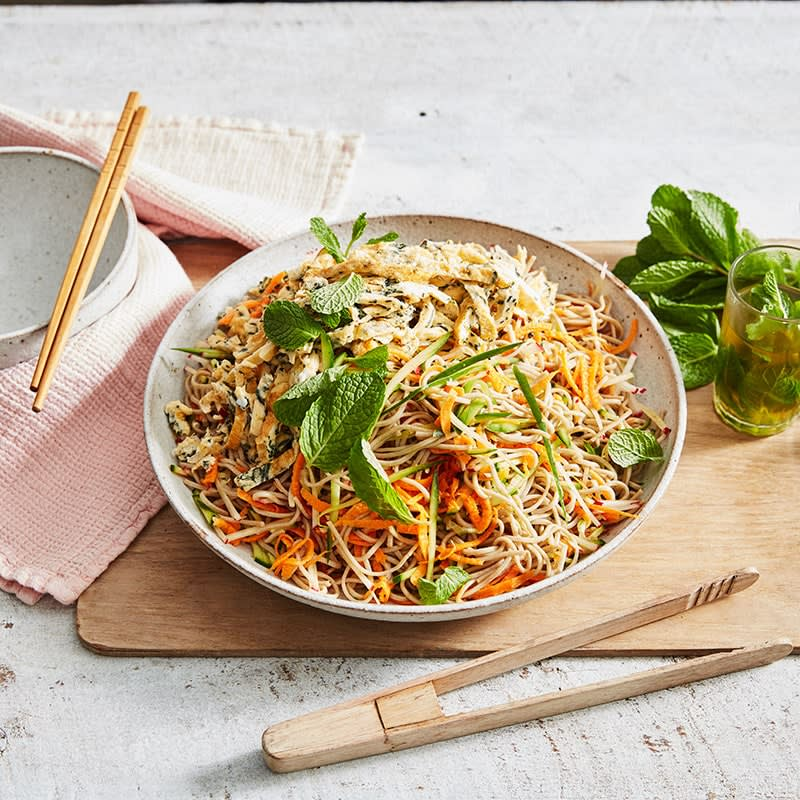 Photo of Soba noodle and shredded omelette salad by WW