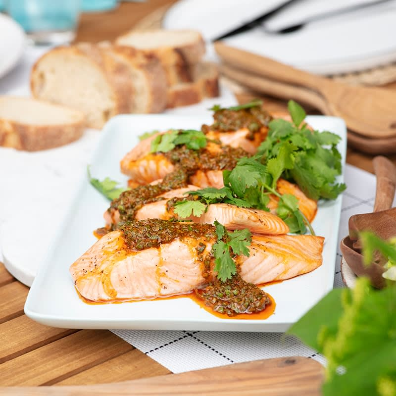 Photo of Salmon with chermoula green beans and asparagus by WW