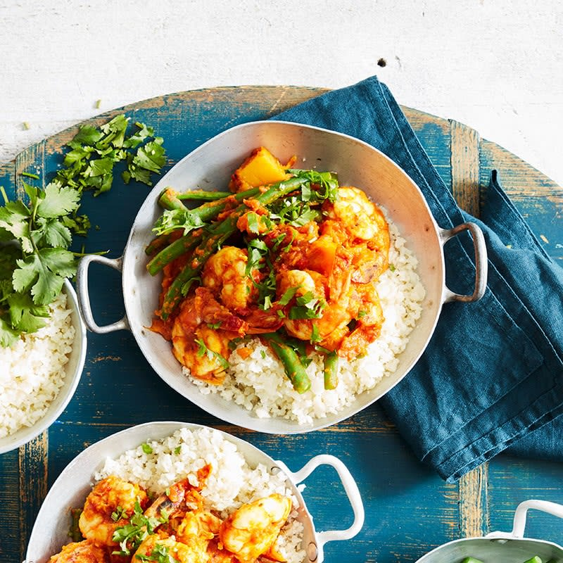 Photo of Yellow prawn curry with cauliflower rice by WW