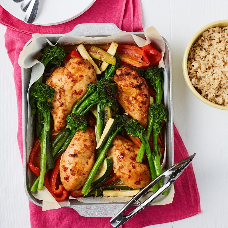 Photo of Lemongrass and ginger chicken tray bake by WW