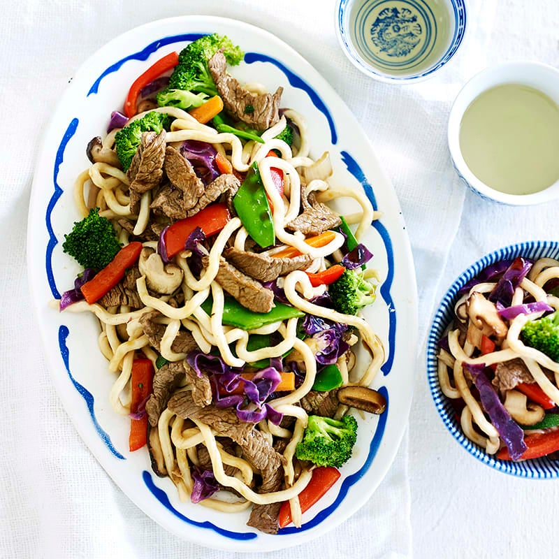 Photo of Japanese beef, vegetable and udon stir-fry by WW