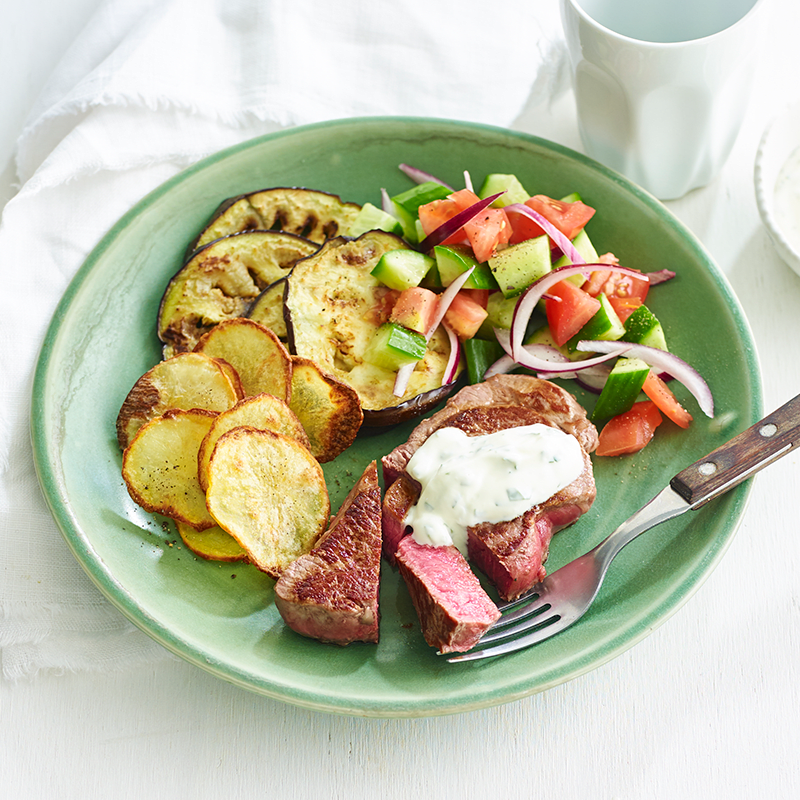 Photo of Lamb leg steaks with grilled eggplant salad by WW