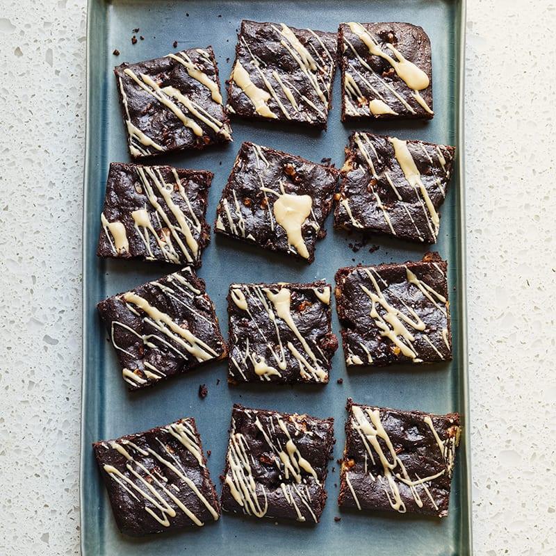 Photo of Coffee-glazed chocolate brownies by WW