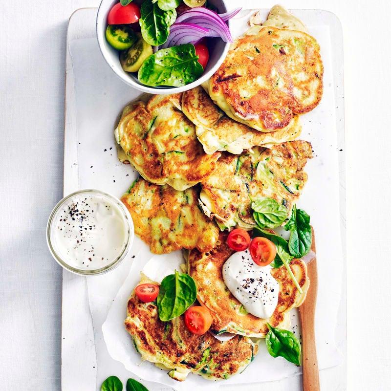 Photo of Zucchini ribbon pancakes by WW