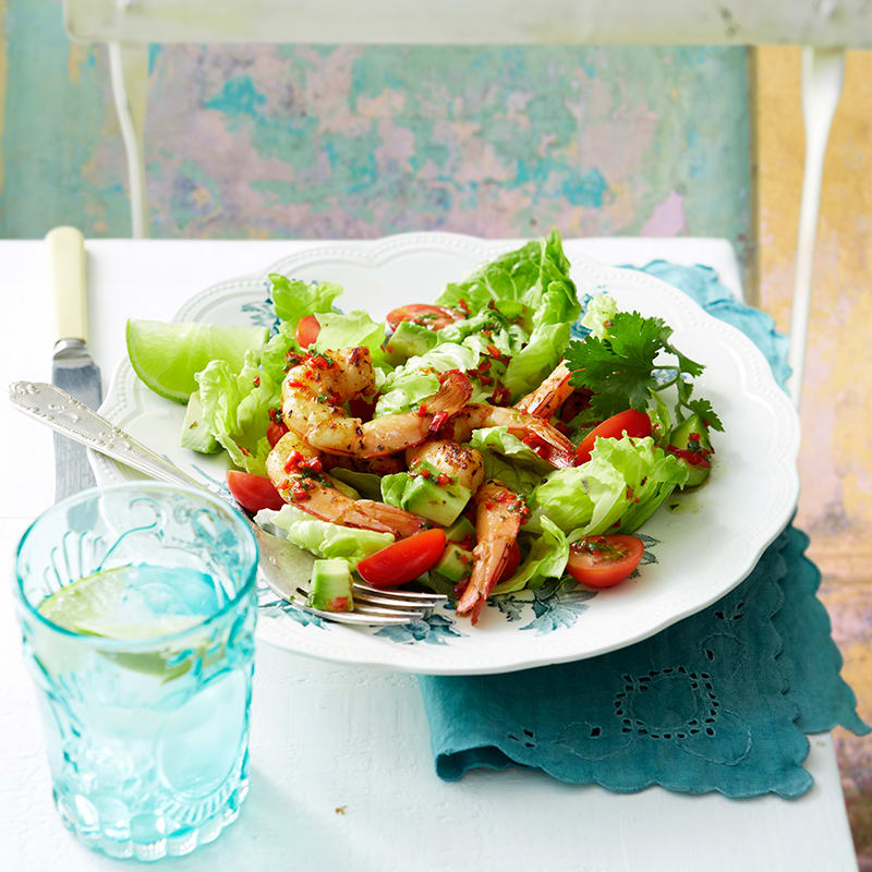 Photo of Cajun prawns with avocado and tomato salad by WW