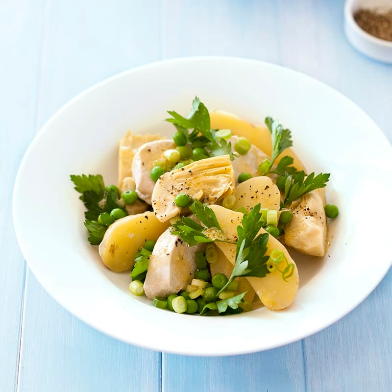 Photo of Chicken with artichoke and potato salad by WW