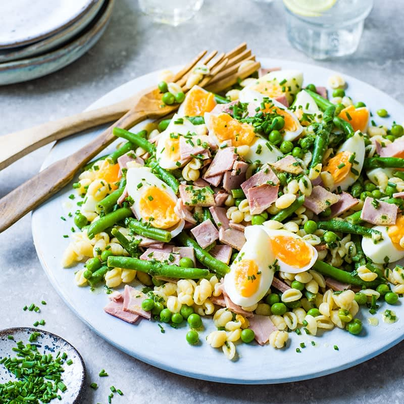 Photo of Ham and egg pasta salad by WW