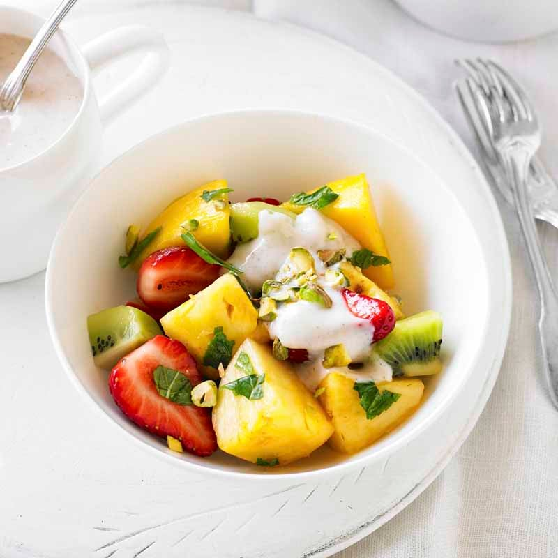 Photo of Fruit salad with spiced yoghurt by WW