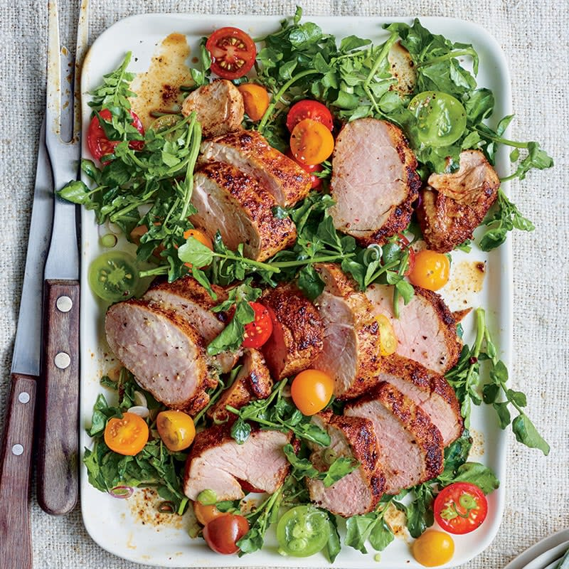 Photo of Spice-crusted roast pork fillet with salad by WW