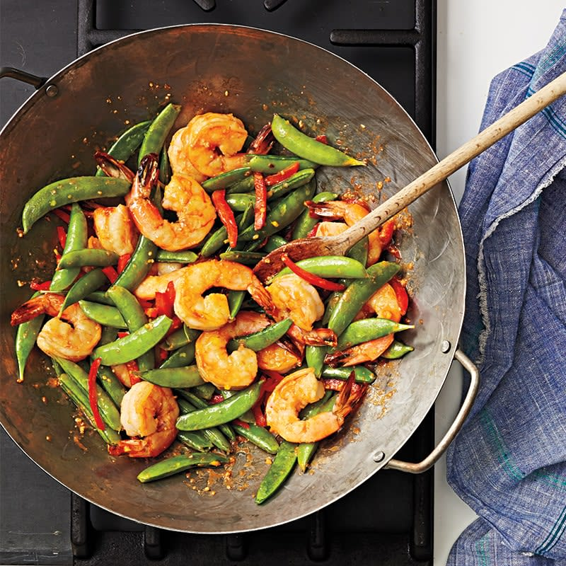 Photo of Ginger prawns with sugar snaps by WW