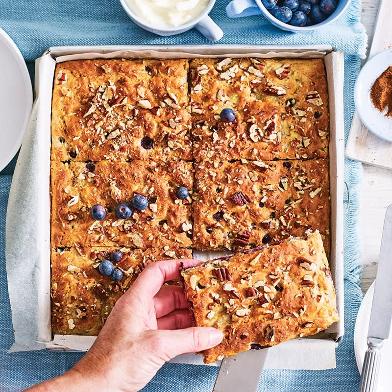 Photo of Blueberry, pecan and banana breakfast slice by WW