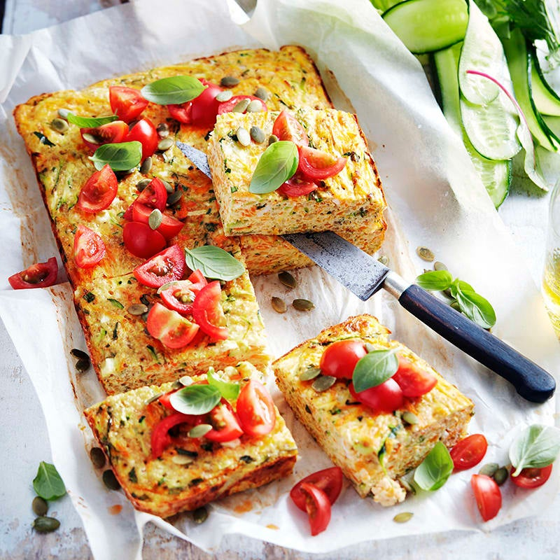 Photo of Quinoa, carrot and cottage cheese slice by WW