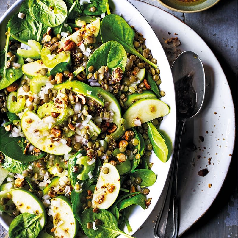 Photo of Lentil, apple and spinach salad with hazelnuts by WW