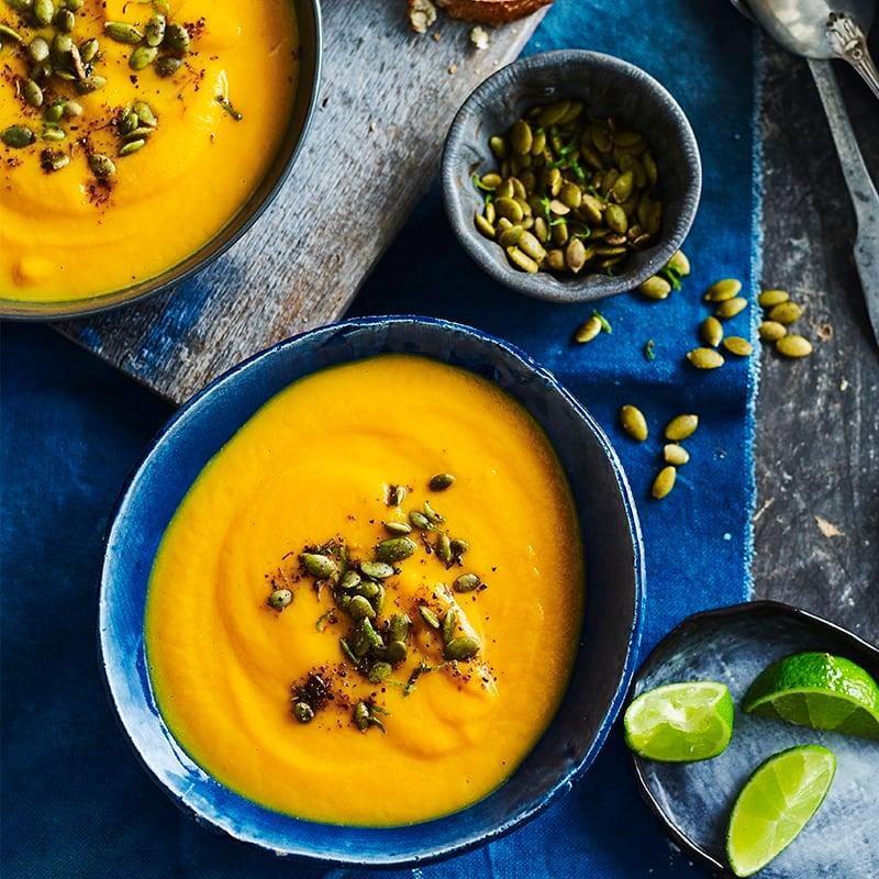 Photo of Sweet potato soup with Cajun pepitas by WW