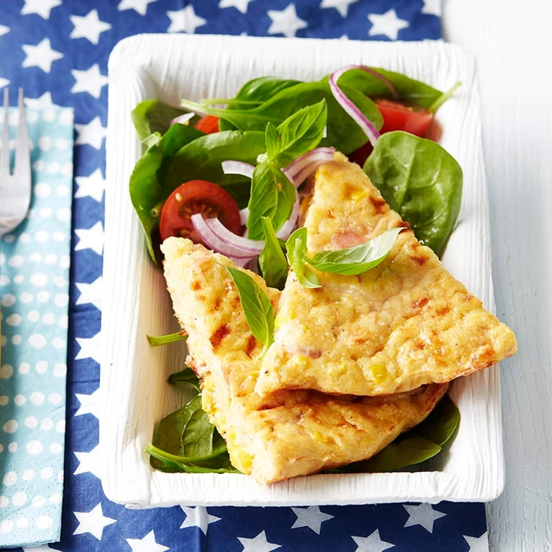 Photo of Polenta frittata with spinach and tomato salad by WW