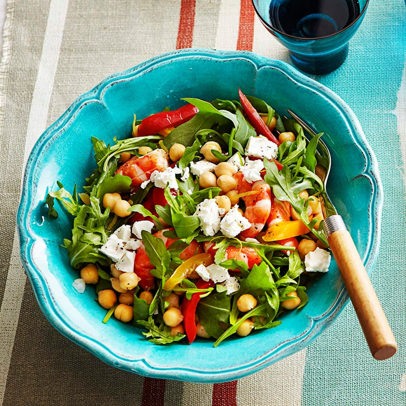 Photo of Prawn, chickpea and roasted capsicum salad by WW