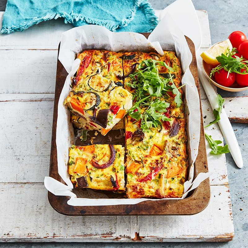 Photo of Spice roasted vegetable and cottage cheese frittata by WW