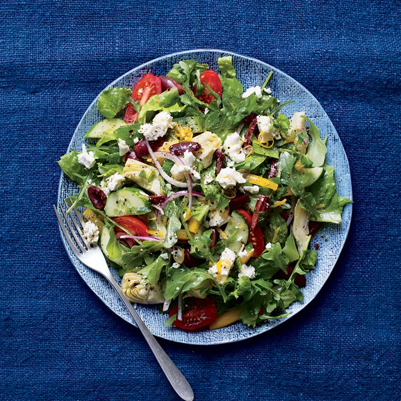 Photo of Greek salad with feta and artichokes by WW