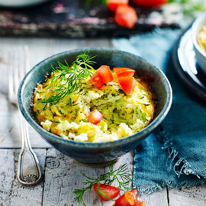 Photo of Greek-style egg, zucchini and rice bakes by WW