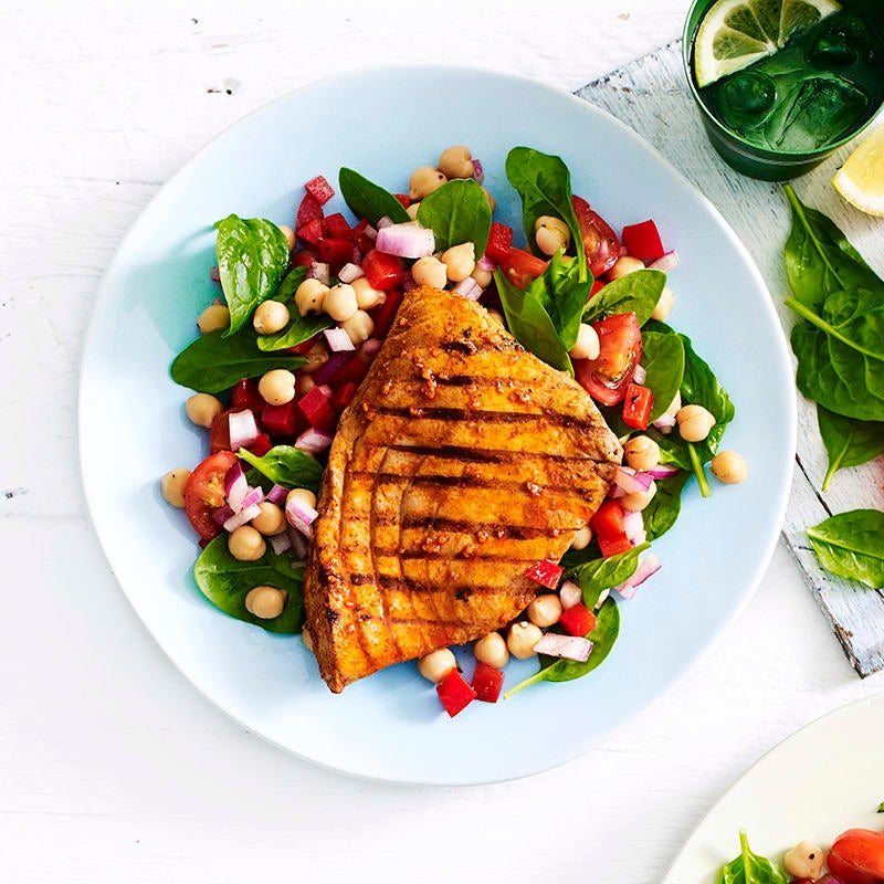 Photo of Spanish-style tuna steaks with chickpea salad by WW