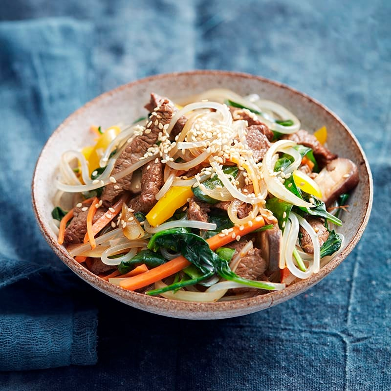 Photo of Korean-style noodles with beef by WW