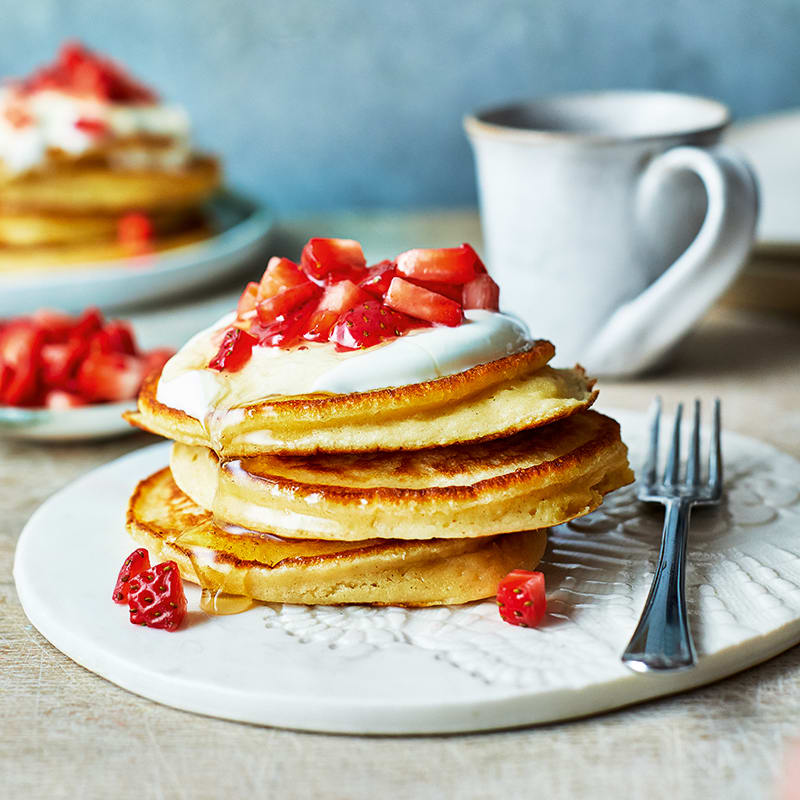 Photo of Butter bean pancakes with strawberries by WW