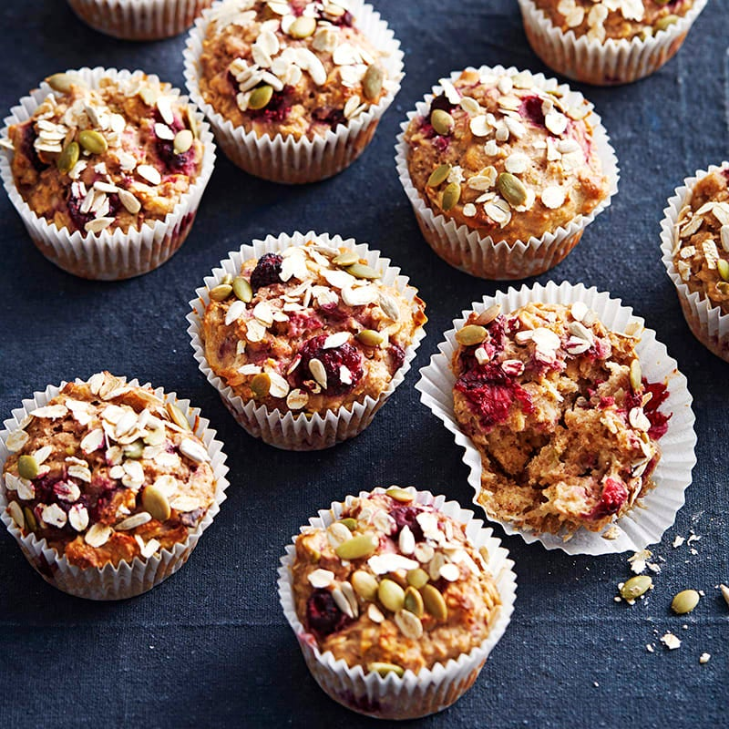 Photo of Apple and raspberry muffins by WW