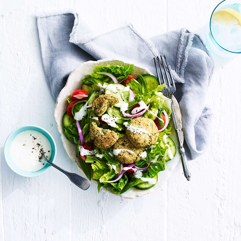 Photo of Air fryer Middle Eastern falafel salad by WW
